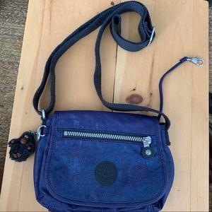 Blue Metalic Kipling crossbody purse